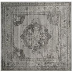 Safavieh Vintage Grey/Multi Square Indoor Machine-Made Area Rug Vtg158