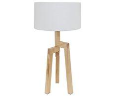 Lampade Da Tavolo Maison Du Monde : Lampada da tavolo highland con paralume in tessuto bianco luce