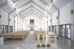 Projekt wnętrz kościoła w Koziegłowach. | Architekt: biuro Poznań - projekt nowoczesnego domu pasywnego, projekty biur i wnętrz.