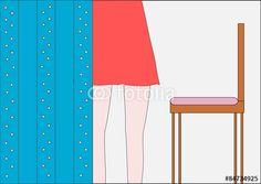 Junge Frau im Zimmer - Close up
