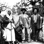 Five slaves are pictured at Turnwold Plantation, the Eatonton estate of Joseph Addison Turner. Writer Joel Chandler Harris, who lived at Turnwold during the Civil War, drew upon his experiences there to write his Uncle Remus tales, as well as his autobiographical novel On the Plantation.