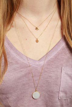 Long Druzy Necklace Druzy Necklace Drusy Quartz Jewelry