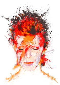 David Bowie Tribute, David Bowie Art, Brian Eno Roxy Music, David Bowie Pictures, Aladdin Sane, Ziggy Stardust, Limited Edition Prints, Rock Art, Printable Art