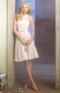 A-Line One Shoulder Sleeveless #Bridesmaid #Dress Style Code: 02610 $74