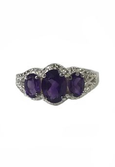 Sterling Silver Amethyst Ring Past - Present - Future https://www.etsy.com/listing/604083119/sterling-silver-amethyst-ring-past?utm_campaign=crowdfire&utm_content=crowdfire&utm_medium=social&utm_source=pinterest