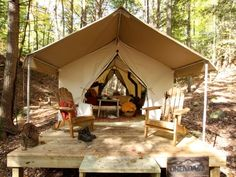 "Some innovative US resorts are introducing elements of ""glamping"" (glamorous camping) to attract those who appreciate posh accommodations, gourmet dinners, and sublime service while still enjoying hiking, fishing, wildlife spotting, etc...."