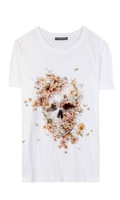 Alexander McQueen skull print T-Shirt - Spring 2013 (need this)