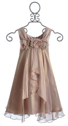 Biscotti Shimmering Rose Tween Holiday Dress Sleeveless $106.00