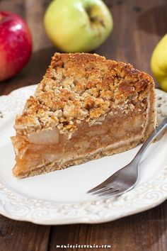 Nabiału, cukru) / healthy apple pie ( gluten, dairy, sugar free) gluten and Healthy Cake, Vegan Cake, Healthy Desserts, Raw Food Recipes, Cake Recipes, Healthy Recipes, Gluten Free Cakes, Gluten Free Recipes, Sin Gluten