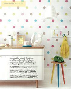 Polka dots! Styling by Emma Clayton | Photography by Mark Scott