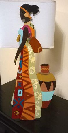 African Quilts, African Fabric, African Women, African Art, Beautiful Landscape Wallpaper, African Paintings, Art Africain, Fabric Painting, Black Art