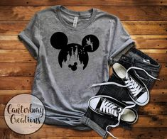 Disney Shirt Tinkerbell Castle with Mickey Shirt disney shirts disney disneyland disney world ti Disney World Outfits, Disneyland Outfits, Disneyland Shirts, Disney World Shirts, Disney Shirts For Family, Disney Family, Family Shirts, Walt Disney World, T Shirts