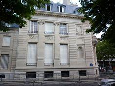 Hôtel Ephrussi (1886) 2, place des Etats-Unis Paris 75016. Architecte : Paul-Ernest Sanson. Résidence de l'ambassadeur d'Egypte.
