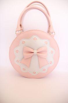 Loris Round Shaped Cute Bow Sweet Lolita Handbag