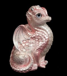 Fledgling Dragon Statue -- Shell Pink -- Windstone Editions -- Beautifully Detailed Drake Figurine -- 510-SP