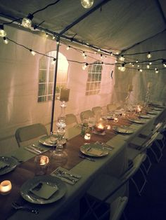 #white table scape  #table scape #dinner party #outdoor dinner party  #tent party