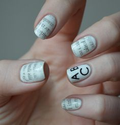 Text nails by Sonnela.