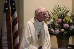 Paulist Fr. Kevin Devine at the Mass celebrating the 60th anniversary of his ordination.