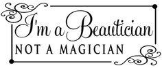 I'm A Beautician Not A Magician wall art decal vinyl lettering salon decor