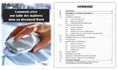 Etapes d'élaboration d'une table des matières dans Word 2007  -   Cet article montre comment élaborer une table de matières (ou sommaire) dans Word avec les styles de titres pré-définis.