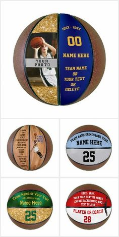 Personalized Basketball Ball with Your Text and or Photo in Your COLORS. Call Zazzle Designer Little Linda Pinda: to Change the Colors or Change the Design. Senior Night Gifts for Basketball. CLICK personalized basketball ball IMAGE or GO HER Basketball Awards, Indiana Basketball, Basketball Workouts, Best Basketball Shoes, Basketball Gifts, Basketball Quotes, Basketball Hoop, Basketball Scoreboard, Basketball Shooting