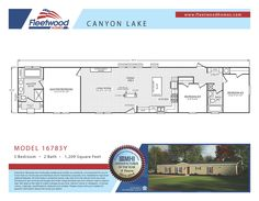 Canyon Lake Model 16783Y #floorplan #manufacturedhome #fleetwoodhomes #canyonlake