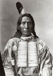 Chief Red Cloud (1822 - 1909) Oglala Sioux leader who defeated U.S. Army in many battles. Born near North Platte, Nebraska