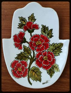 29- 15 cm tabak Plate Art, Jewish Art, Watercolor Texture, Tile Art, Fabric Painting, Online Art, Art Projects, Decorative Plates, Pottery