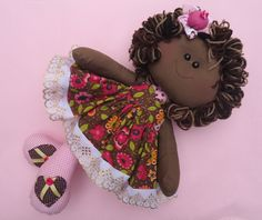 Doll Clothes Patterns, Doll Patterns, Black Baby Dolls, African American Dolls, Sock Animals, Animal Pillows, Sewing Toys, Felt Toys, Soft Dolls