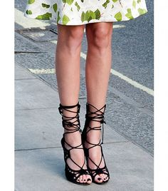 Spring's+Most+Sultry+Shoe?+The+Lace-Up+Heel+via+@WhoWhatWear