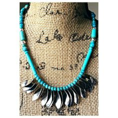 Check out this item in my Etsy shop https://www.etsy.com/listing/241617232/turquoise-tribal-necklace-turquoise-boho