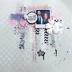 mixed media scrapbook layout