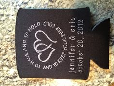 Coozie for the wedding