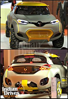 Auto Expo 2014 #Live : Renault unveils concept car #KWID.  Special Features :  * Electrically operated front bench seat * #Electric Opening doors * #LED Lighting * Lack of #Gearshift * Vertically mounted #TFT Touchscreen doubles up as a dashboard  #Renault #AutoExpo2014