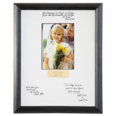 Communion and Confirmation Autograph Frames - personal creations