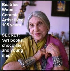 beatrice wood biography   BEATRICE WOOD, 105 years young....
