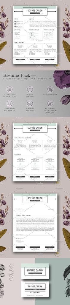 Professional Resume Template - MS Word Compatible - Best CV - professional resume and cover letter