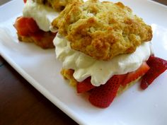 Gingery Strawberry Shortcake Sliders