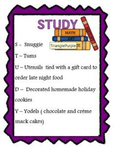 College care package idea to send for exam or mid-term week! easy to make yourself
