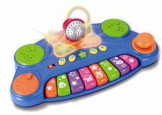 Winfun Baby DJ Music Mixer by Winfun. $19.99. Removable microphone. Built in deom songs. High-low volume and on/off switch. 3 instrument selections and 1 animal sound button. DJ scratch pad and joystick with zany sound effects. Baby DJ music mixer has scratch pad and joystick and detachable microphone.