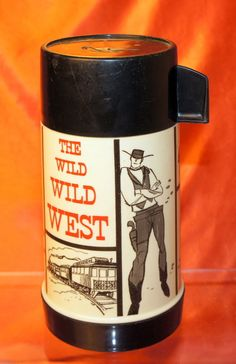 VINTAGE THE WILD WILD WEST THERMOS ONLY!!!! FOR LUNCH BOX, DATED 1969