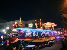 Where else can you see a giant BATHTUB drive down the street in a light-up parade?!