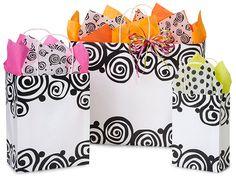 100% Recycled Bohemian Swirls Shopping Bags