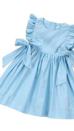 Baby Girl Frocks, Frocks For Girls, Little Girl Dresses, Dresses For Babies, Cute Baby Dresses, Girls Dresses, Summer Dresses, Baby Girl Dress Design, Girls Frock Design