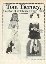 TOM TIERNEY-PAPER DOLL ARTIST-ARTICLE FROM DOLL READER MAGAZINE-1990