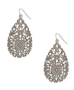 Bollywood inspired teardrop earrings