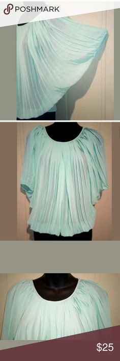 49d44507b30 Poof women s L Pleated dolman sleeve blouse top
