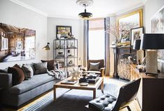 beautiful modern living room with wood flooring