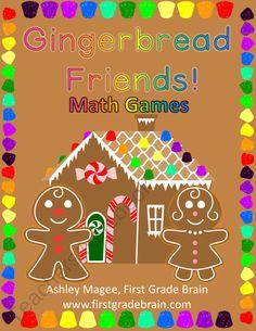 Gingerbread Friends Math Games from FirstGradeBrain on TeachersNotebook.com (30 pages)  - Gingerbread Friends Math Games