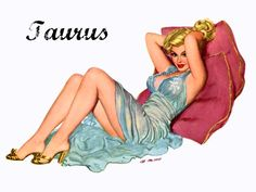 Zodiac Pinup- Truth be told this one's as sweet as cherry and that aint no 'Bull'